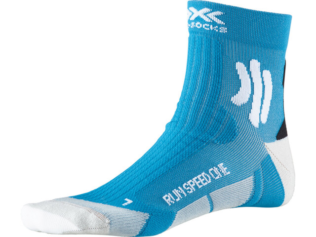 X-Socks Run Speed One Calcetines, teal blue /arctic white